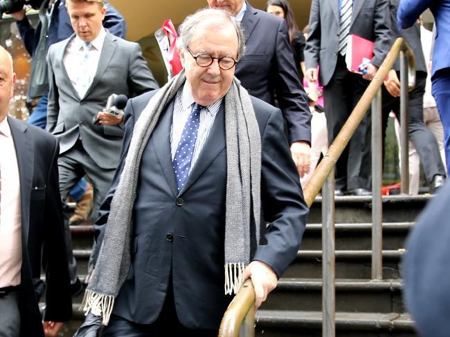 Magistrate Graeme Curran leaves court. Picture: John Grainger
