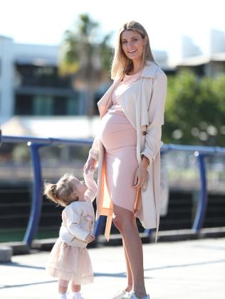 Influencer Michelle Alan and her daughter, Harper, 14 months. Picture: Peter Wallis