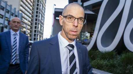 ANZ head of lending services Benjamin Steinberg leaves the royal commission hearing in Brisbane. Picture: AAP