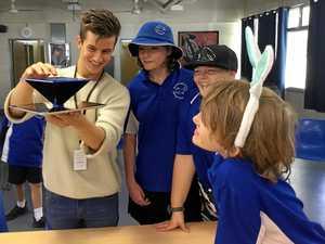 Teen entrepreneur's hi-tech invention wows Bay school