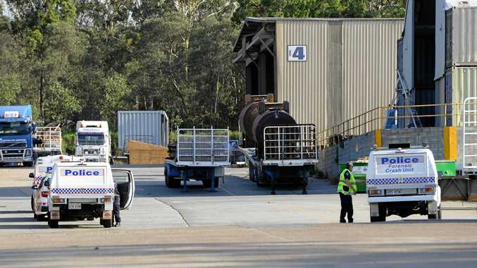 The scene of a fatal accident on Mica Street in Carole Park on Monday afternoon. Photo: Rob Williams / The Queensland Times