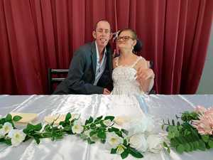 Newly wed Ipswich couple's touching Origin tradition