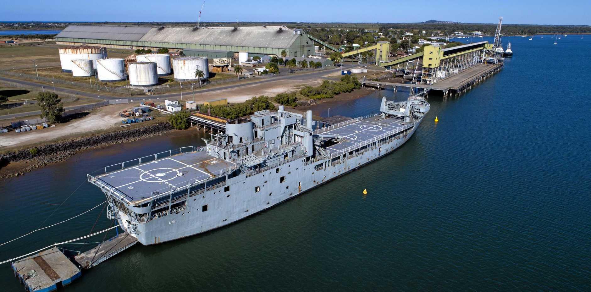 Ex HMAS Tobruk.