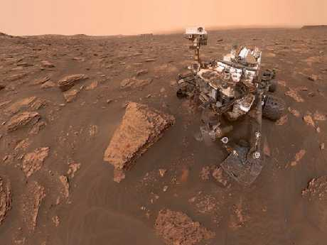 NASA's Curiosity rover took this selfie in the middle of a Martian dust storm on June 15, 2018. Picture: NASA/JPL-Caltech/MSSS