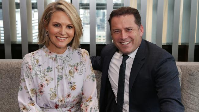 Karl Stefanovic and Today co-host Georgie Gardner in Melbourne. Picture: Julie Kiriacoudis