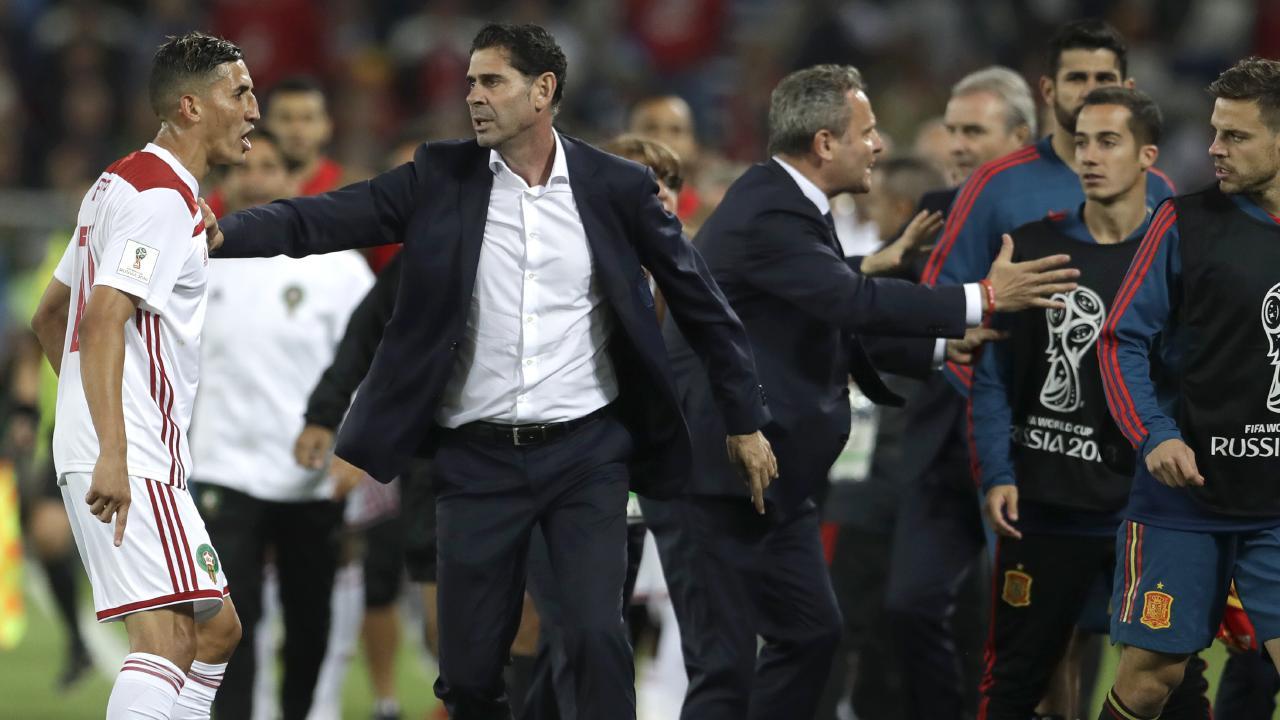 Fernando Hierro has quit as Spain coach.