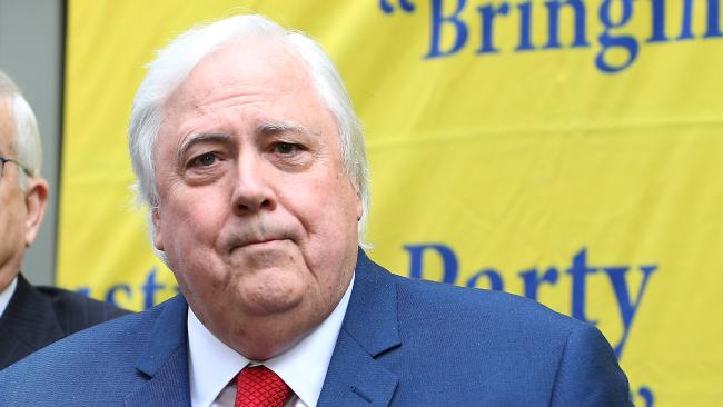 Clive Palmer. Picture: Kym Smith