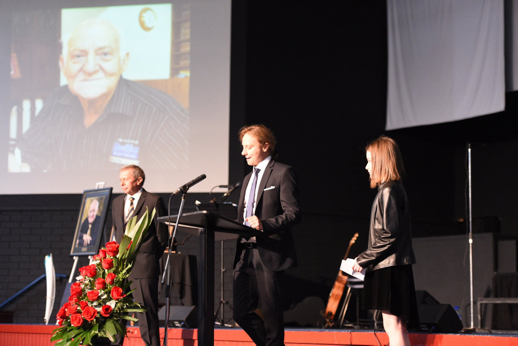 Memorial service for Con Souvlis - Chris Souvlis delivers the family reading from Revelations.