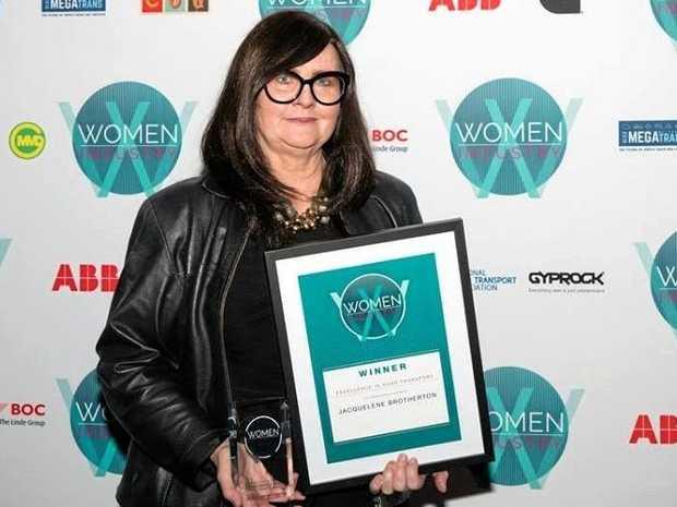 WINNER: Jacquelene Brotherton with her award in Sydney.