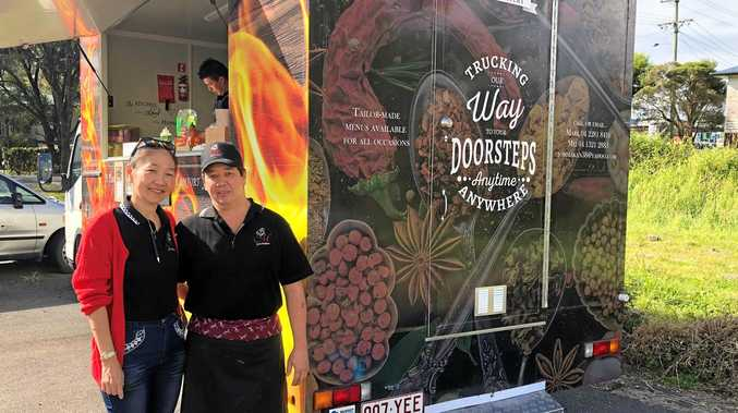 TAKE OUT: Jom Makan, wife Mei and son Marco have hit the streets around town in their food truck, introducing their mobile eatery to the city.