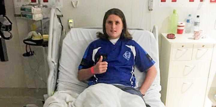 Ben Baker Whalley in hospital.