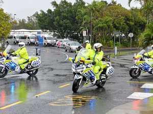 Police escort greets Prime Minister