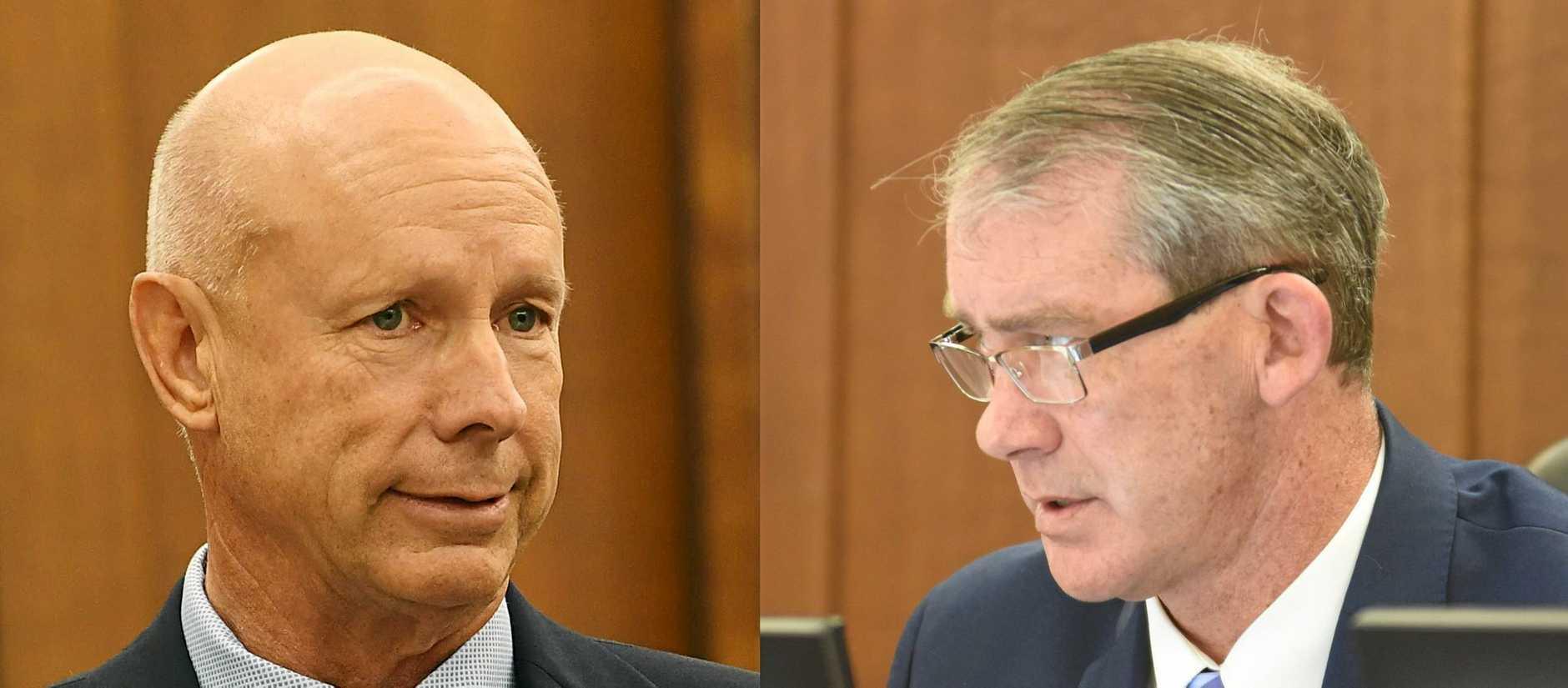 Cr Bob Fredman and Mayor Mick Curran.