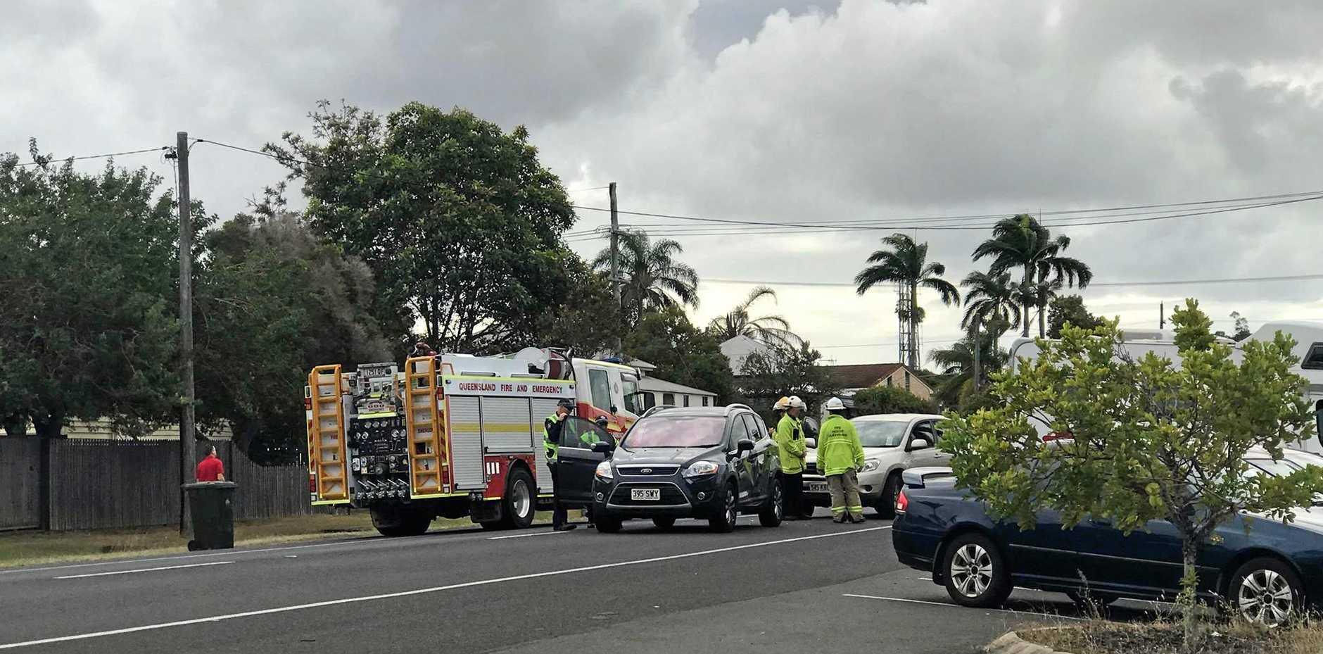 The scene of the crash on Branyan St.