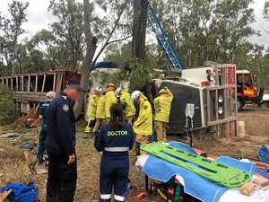 Driver, 70, trapped for six hours