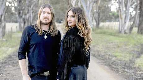 Country stars Adam Eckersley and Brooke McClymont.