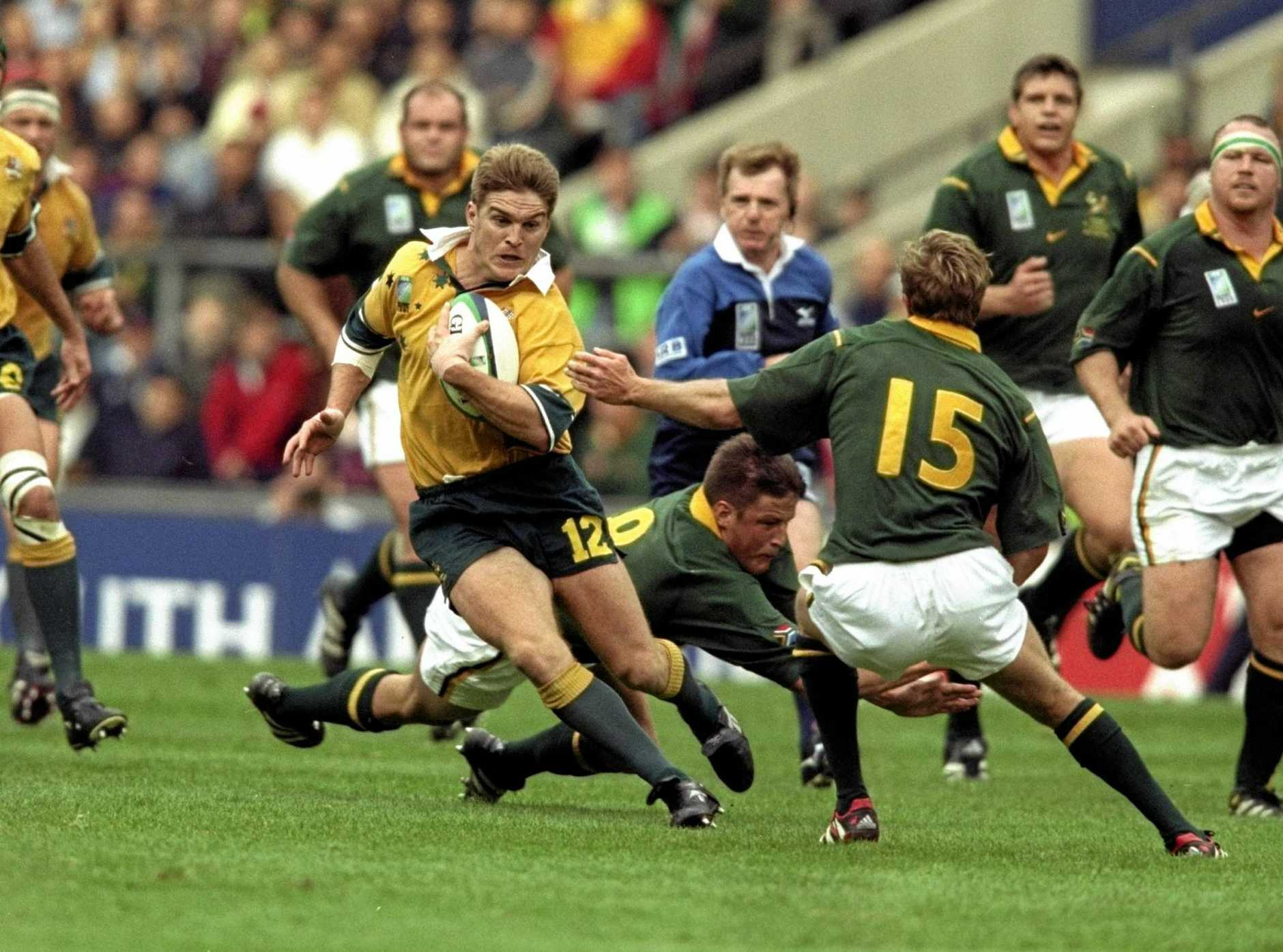 RUGBY ROYALTY: Toowoomba product and former Wallaby Tim Horan will MC Downlands College's Wake Up With The Wallabies breakfast alongside special guest John Eales.