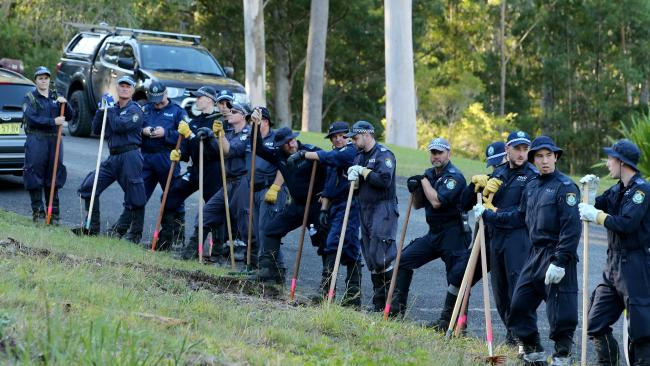 Some 50 members of the NSW Police public order riot squad are scouring the area. Pic Nathan Edwards