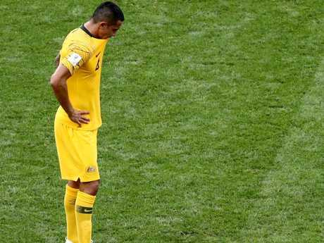 Tim Cahill was distraught.