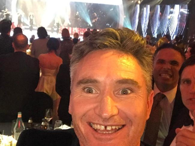 David Hughes mingling at the Logies after his monologue. Picture: Instagram