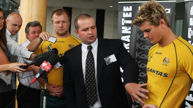Tyron Brant, then with KooGa, talks about the Wallabies jersey.