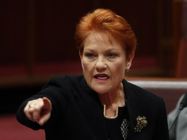 Pauline Hanson's position on company tax cuts is hard to keep track of. Picture: Gary Ramage