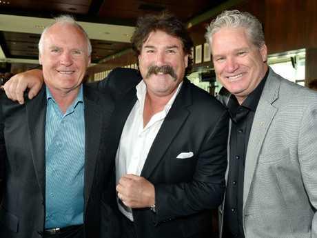 Rodney Hogg with Robert 'Dipper' DiPierdomenico and Dean Jones. Hogg is a substantial shareholder in Kogi Iron.