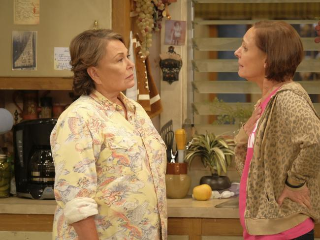 IRoseanne Barr and Laurie Metcalf in a scene from the Roseanne reboot. Picture: Adam Rose/ABC via AP