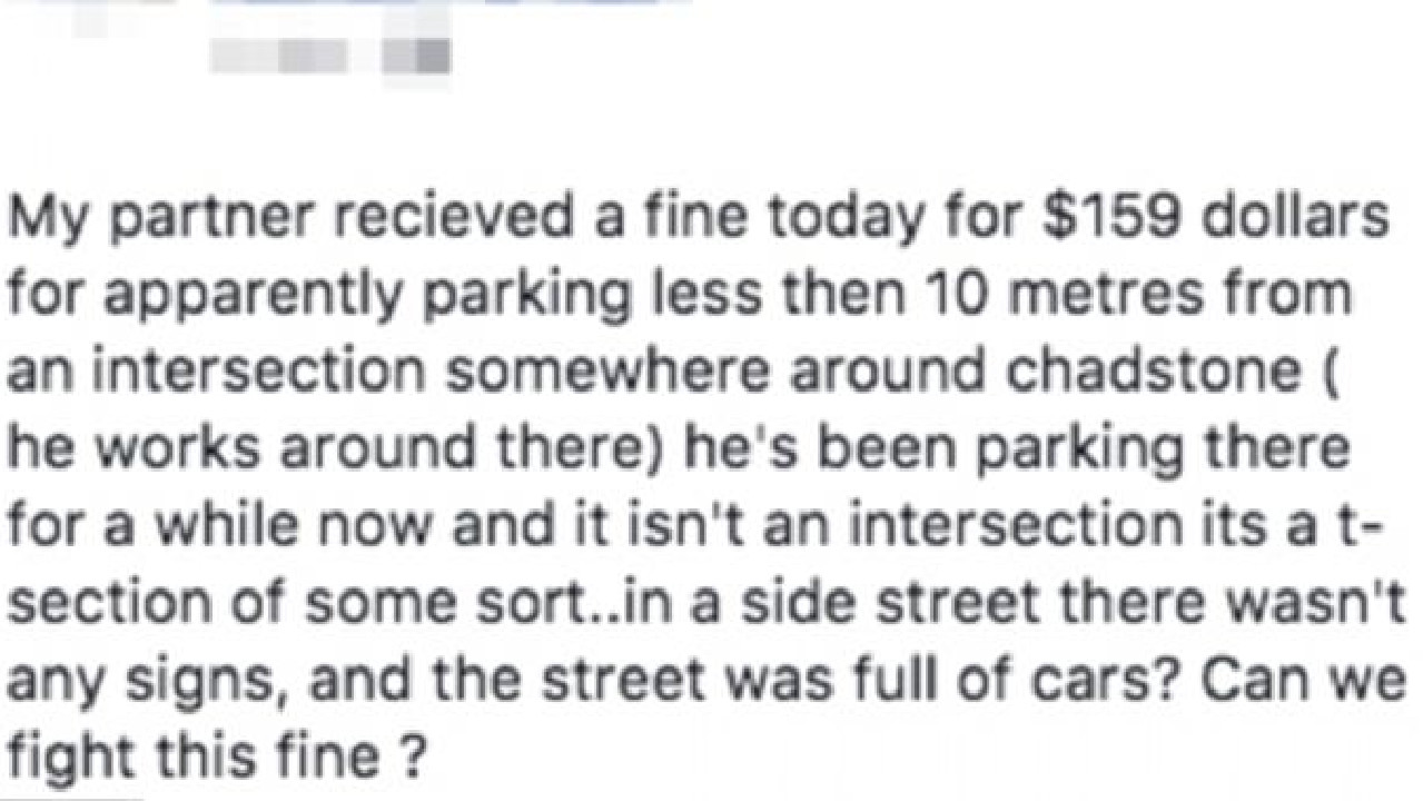 Obscure parking rule catching drivers. Picture: Facebook