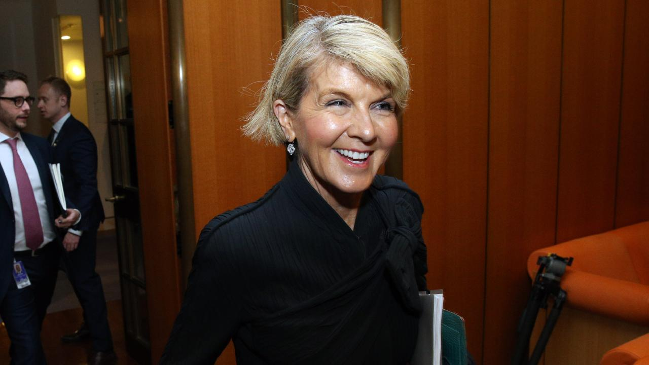 Foreign Affairs Minister Julie Bishop confirmed that Union Aid Abroad was a longstanding Australian aid partner. Picture: Gary Ramage
