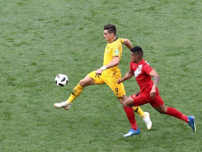 Tomi Juric in full flight against Peru.