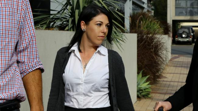 Dreamworld senior ride attendant Sarah Cotter at the inquest. (AAPImage/David Clark)