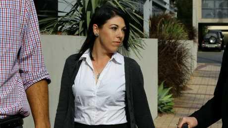Dreamworld senior ride attendant Sarah Cotter at the inquest. (AAPImage/David Clark)