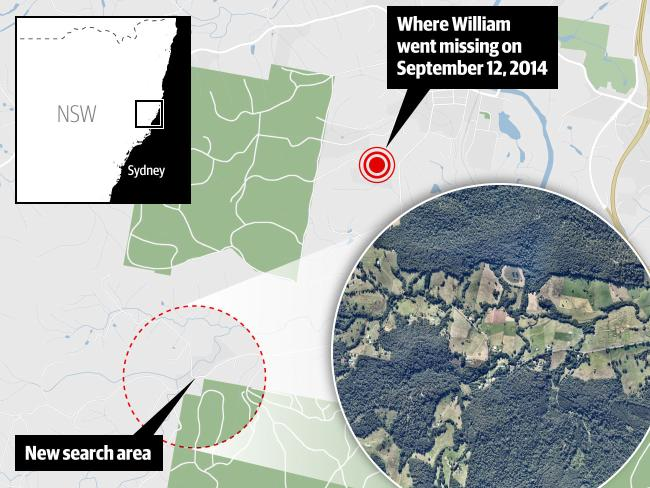 Police have zeroed in on a site just four km from where William Tyrrell disappeared.