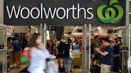 Fifty cents in every dollar spent on packaged liquor now goes to Woolies. Picture: AAP Image/Joel Carrett.