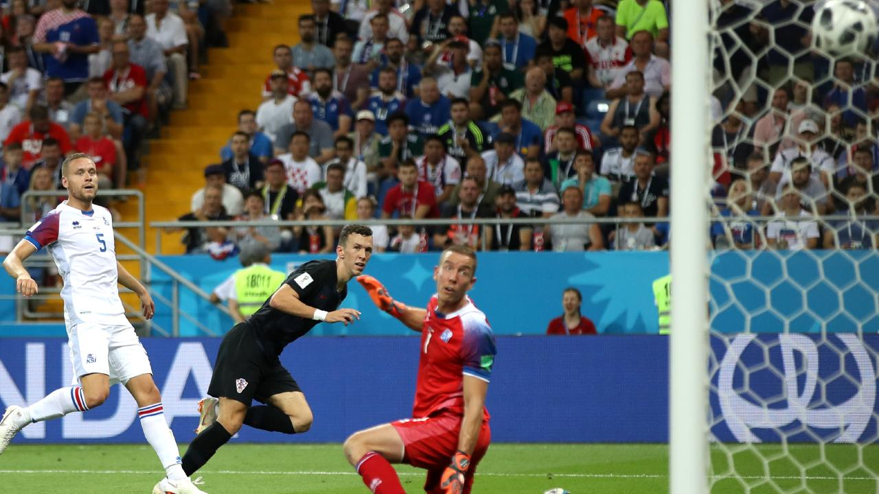 Ivan Perisic puts Croatia 2-1 up late in the match. Picture: Getty Images