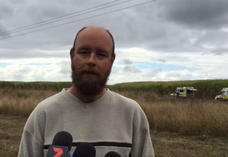 Witness and good Samaritan Daniel Wood talks from near the scene of the fatal crash at Wallaville.