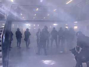 Wolston jail riot scenario training shown in dramatic video