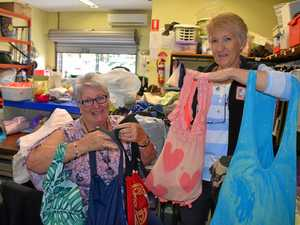 Gladstone charity shop's tee-shirt bags solution to plastic