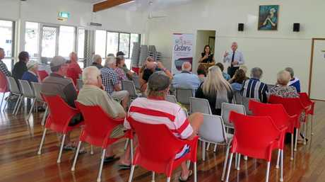 Caloundra MP Mark McArdle met with residents of Military Jetty Caravan Park in Golden Beach last year to help educate them on their legal rights should the park sell.