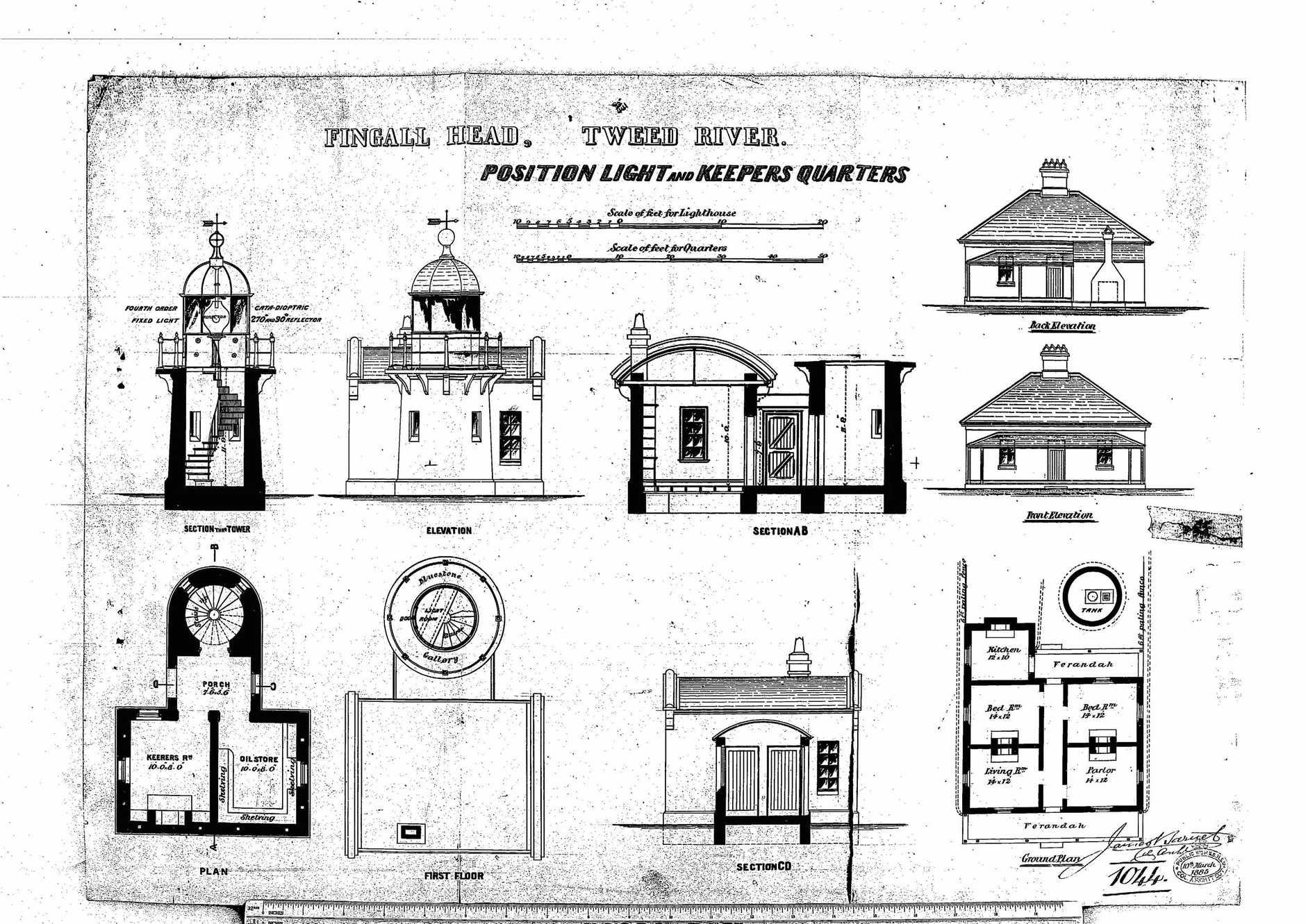 Fingal Lighhouse original designs.