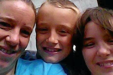 Tina Alleyn with her children Hayden and Lateesha Mcauley. A Gofundme page has been set up for them.