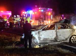 CRASH: Two confirmed dead in fiery head-on crash