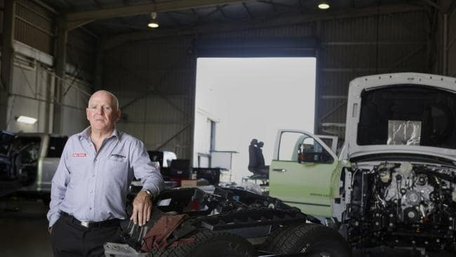 Greg Waters has turned a hobby tinkering with cars into a multimillion-dollar business. Picture: AAP/Megan Slade