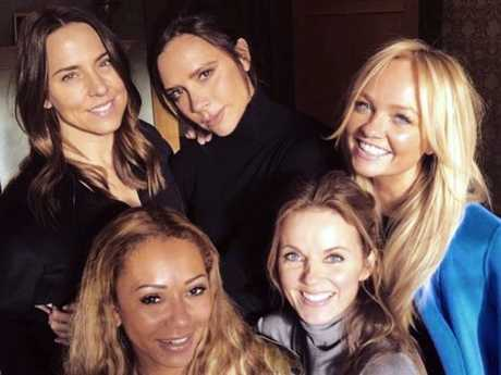 The Spice Girls sparked rumours of a reunion when Mel C posted this photo on her Instagram account. Picture: Instagram