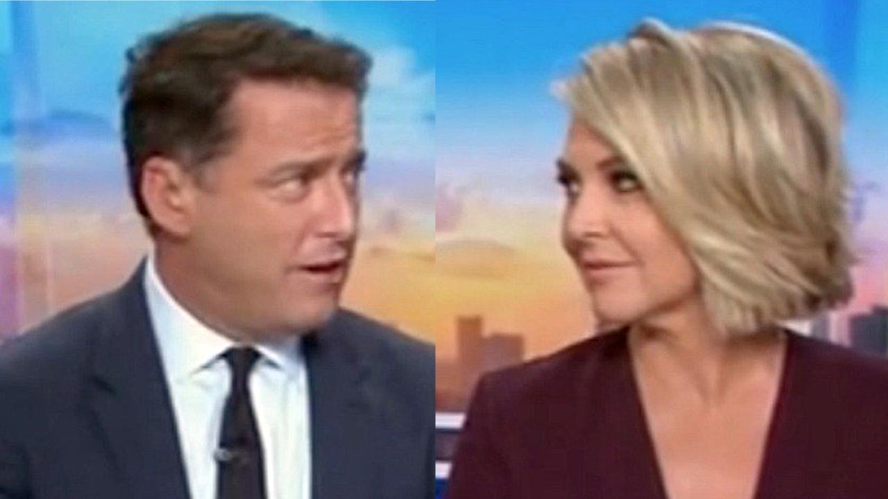 Karl Stefanovic and Georgie Gardner. Picture: Channel 9