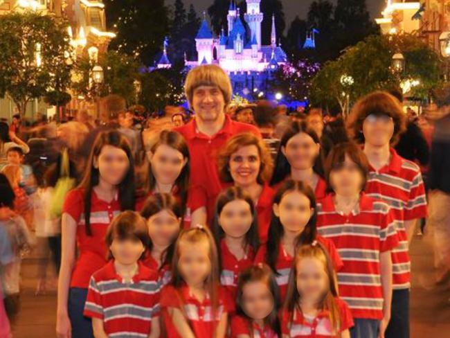 The Turpins pictured on one of two trips the family made to Disneyland. Picture: Supplied