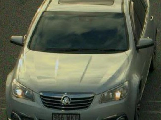 The white Holden Commodore police are seeking in relation to the body found in a barrel.