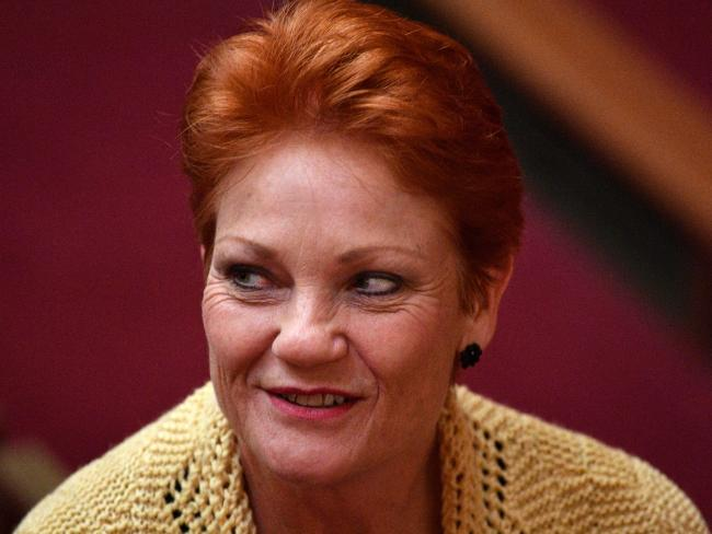 One Nation leader Senator Pauline Hanson. Picture: AAP/Mick Tsikas