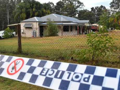 The house at Buccan from which the black ute carrying the barrel containing remains was seen speeding off.